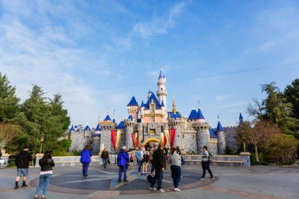 Sleeping Beauty's Castle at Disneyland, California.