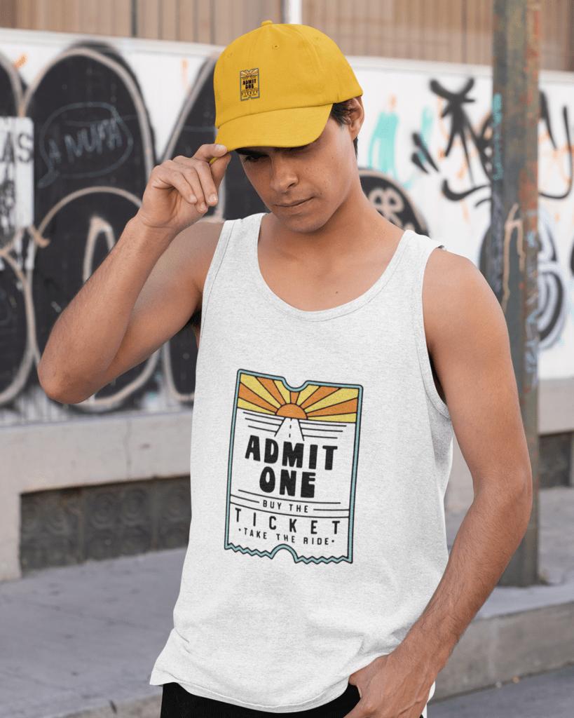 men-admit-one-white-tank