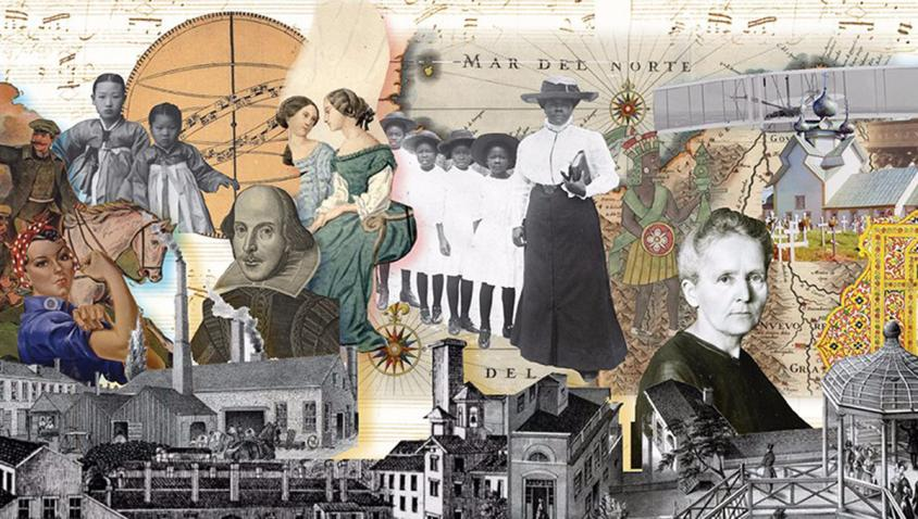 collage of historical personalities